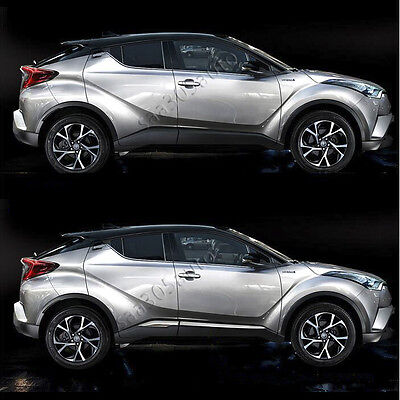 SUS304 Stainless Steel Door Side Body Garnish Cover Trims for Toyota C-HR 2017