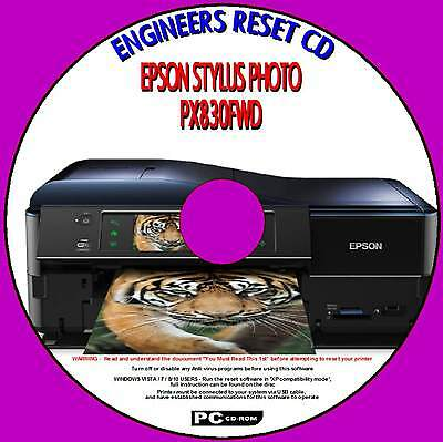 Epson Stylus Px830Fwd Printer Waste Ink Pad Counter Engineer Repair Reset Fix Cd