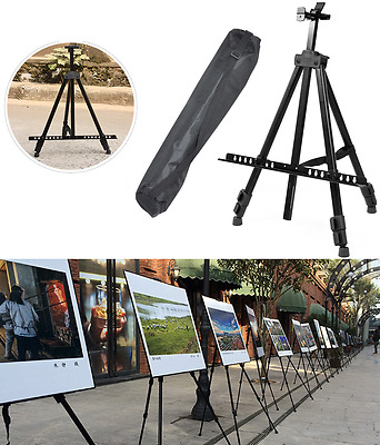 Art Display Tripod Easel Draw Sketch Paint Fold Stand Steel Tabletop 1.6M