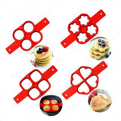Pancake Maker Mould Non stick Silicone Omelette Egg Ring Maker Kitchen Mold Tool