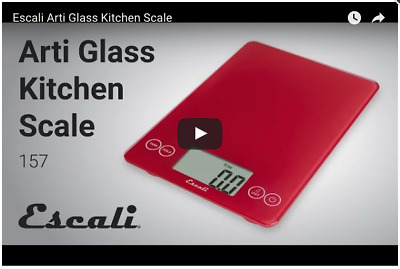 "Escali ""Arti"" Glass Kitchen Scale"