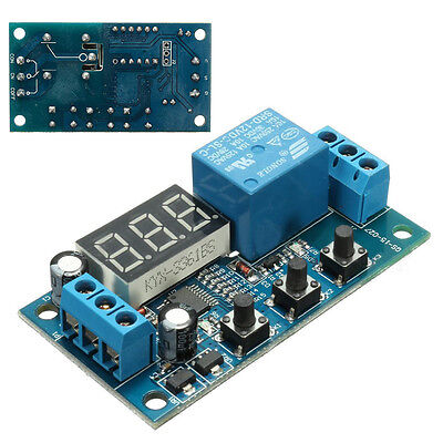 Automatische 12V LED Digital Delay Timer Steuerelement Relais Relay Module Set