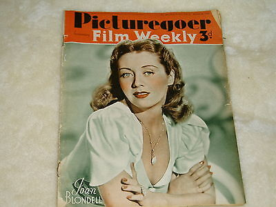 """Vintage"" PICTUREGOER & FILM WEEKLY..(24th AUG.1940)..JOAN BLONDELL   cover"