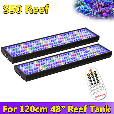 "48"" 4ft Led Aquarium Light Saltwater Marine Fish Coral Reef Programmable SPS LPS"