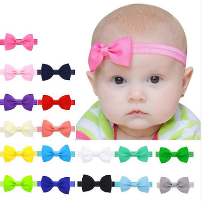 Baby Elastic Headband Bowknot Multicolour Kids Hair Accessories for Girls