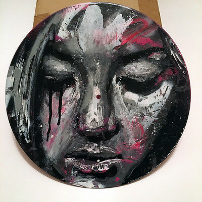 "* DAVID WALKER * UNIQUE PAINTING ON 12"" VINYL RECORD * SIGNED * edition print"