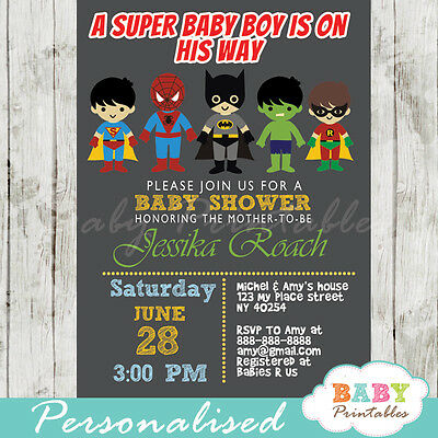Super Baby Boy / Girl Shower Invitation - Printable Digital File