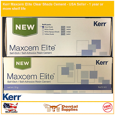 Genuine Kerr Maxcem Elite Clear Shade Cement - 34058