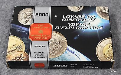 2000 Canada Voyage of Discovery Proof Set Royal Canadian Mint w/ Box & COA