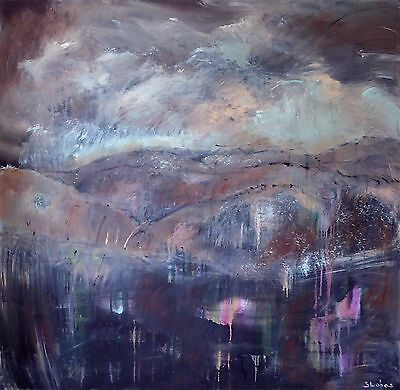 Original Art Large Contemporary Abstract Pennines Landscape Painting on Canvas