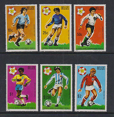 British Honduras Belize 1981 Mint MLH Full Set World Cup Football Spain Winners