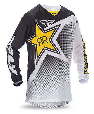Fly Racing Kinetic Rockstar Energy Jersey Mesh Vented MX ATV Riding Gear 2016.5