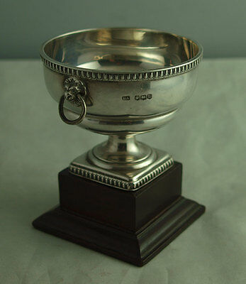 Elegant Solid SIlver Trophy Cup With Lion Mask Handles - 91g - Sheff. 1937