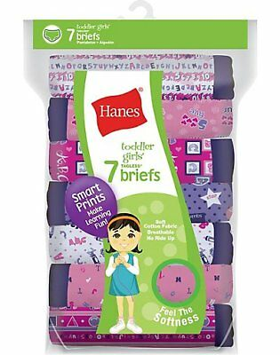Hanes Tagless® Toddler Girls Day of the Week Pre-Shrunk Cotton Briefs 7pk GTHMT7