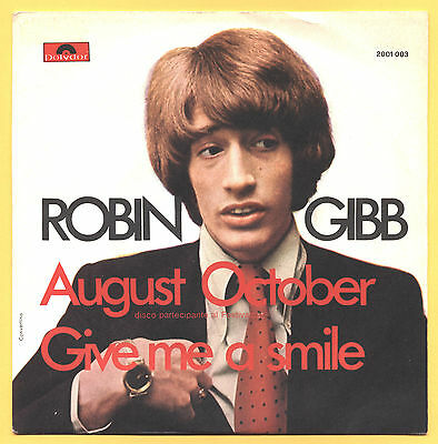 SOLO COPERTINA - COVER ONLY - ROBIN GIBB - August October - ITA 1970 EX