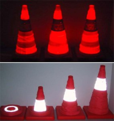 """Pack of 10 Emergency LED Safety Lighted Collapsible Traffic Cone - 17"""" Tall"""