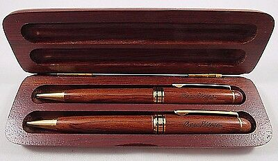 Ballpoint Pen Set Wood Wooden With Box Vintage Beau Rivage Casino Gambling