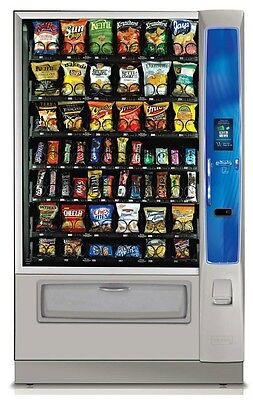 Crane National 187 6 Wide Snack Food Vending Machine W/ Info Screen Chips Candy