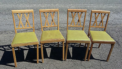 Leg-O-Matic Vintage Mid Century 4 Folding Chairs airstream, small spaces, house