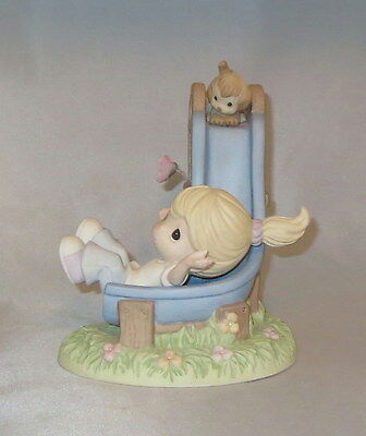 Precious Moments Collector's Club Slide Girl Dog Butterfly Joy Park 2014 Mint Co