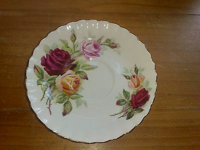 King's Ransom (Teacup) Saucer ~ Royal Albert Bone China ~ England ~ Roses ~ Gold