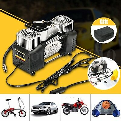 12V 150PSI Double Cylinder Air Compressor Pump Auto Car Inflator Portable Kit