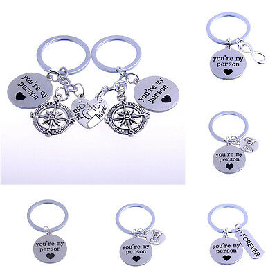 You're My Person Compass Best Friend Mother Daughter Heart Keyring Keychain Key