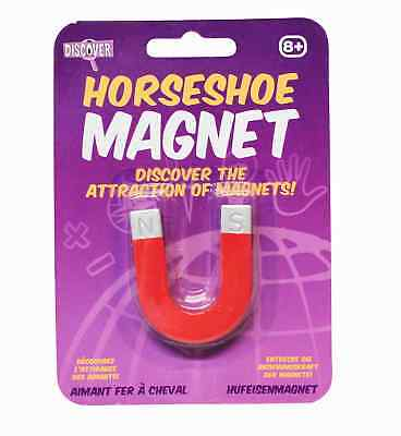 Discovery Indoor Outdoor Science Game for Kids Horseshoe Magnet Classic Red