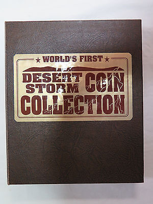 1991 World's First Desert Storm Coin Collection in Album W/45 $5 Coins