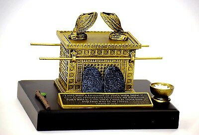 ARK OF THE COVENANT- Beautiful Statue w / plaque Scripture Ezekiel 37:26-27