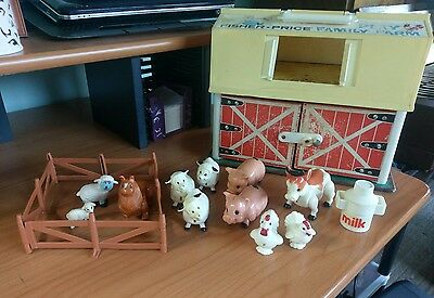 Vintage Fisher Price Play Family Farm 1967 sheep pig cow vintage collectable