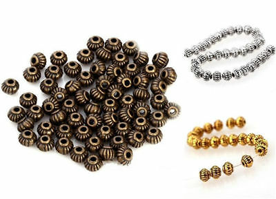 200Pcs 5mm retro Round Ball spacer beads Diy metal alloy jewelry accessories