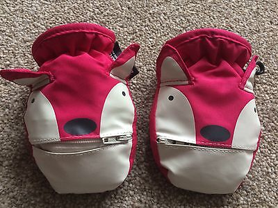 NEXT Thinsulate Baby Mittens Gloves Fox Foxes with Zippers 3-9 Months