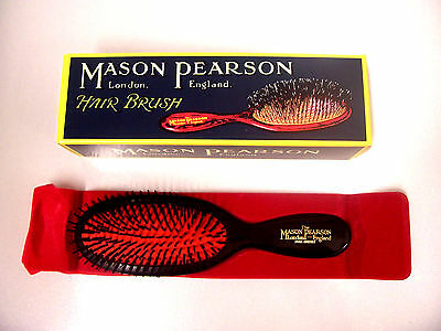 Mason Pearson Hair Brush Pocket Bristle B4 Dark Ruby
