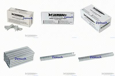 New Heavy Duty Fixman 10J GALVANISED STAPLES 11.2 x 8 x 1.16mm (Pack 5,000) UK ✔