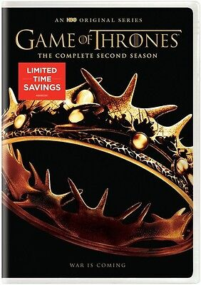 Game Of Thrones: The Complete Second Season - 5 DISC SET (2016, DVD NEW)