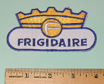 "Vintage Frigidaire Crown Patch 4 1/2"" X 2 1/4"""