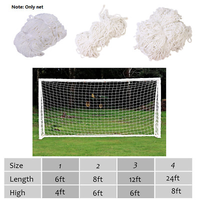 S/M/XL Size Football Soccer Goal Post Nets For Sports Training Match Replace