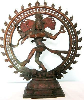 19th Century Northern Indian Bronze Dancing Shiva Deity Nataraja LARGE 34cms