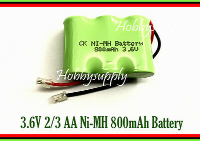 3.6V 2/3 AA Ni-MH 800mAh Rechargeable Battery w/. Universal for Cordless Phone