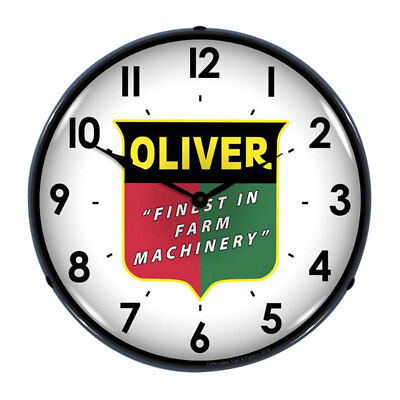 Oliver Shield Finest In Farm Machinery Light Up Clock 14 in.