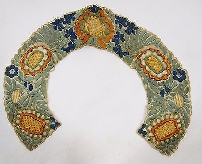 [KM01] Exquisite Antique Vintage Lace Embroidery: Collar