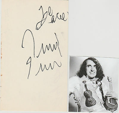 Tiny Tim signed card!