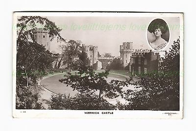 c1905 RPPC Warwick Castle Countess of Warwick Daisy Greville Beagle G338
