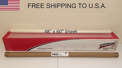 "3M Scotchgard PRO Series Paint Protection Film Clear Bra 48"" x 60"" Sheet"