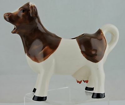 Vintage Porcelain Milk Cow Brown/white Creamer Novelty Farm Country