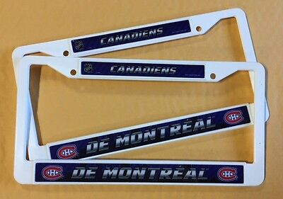 2 DE MONTREAL CANADIENS License Plate Frame NEW Auto Truck FREE SHIPPING