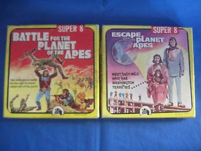 Lot of 2 Super 8 Escape From the Planet of the Apes Battle Of Black And White