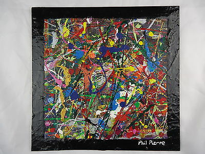 Phil Pierre - BUBBLE GUM 301 - new original abstract acrylic painting on board