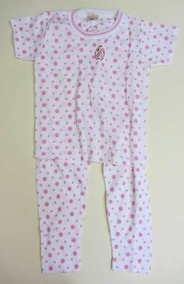 Girls vintage PJ's pink spot New with tags age 4-5 Ladybird 1960's
